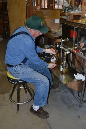 That's Dean Wilber, just filling up some syrup jugs.