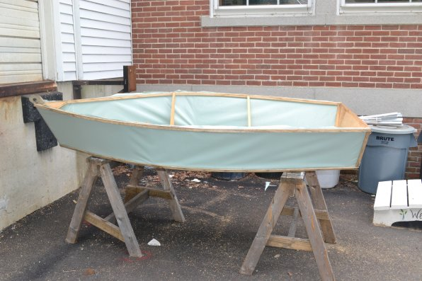 That's a boat that some of the Parker students have been working on this summer.