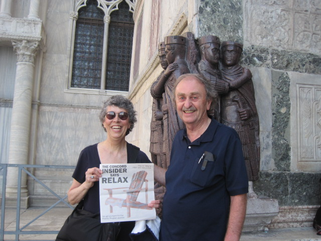 Patty and David Fesette took the Insider on a tour of St. Mark's Square in Venice, Italy.