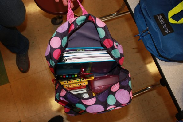 Look at all that cool stuff students got in their backpack.