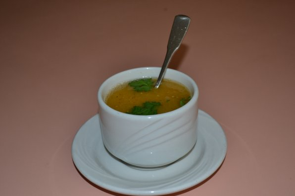 House of India, lentil garlic soup.
