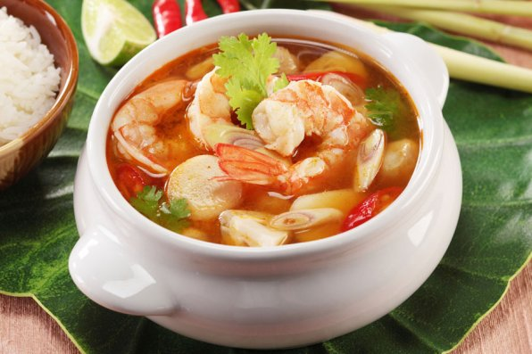 Siam Orchid, Tom Yum seafood.