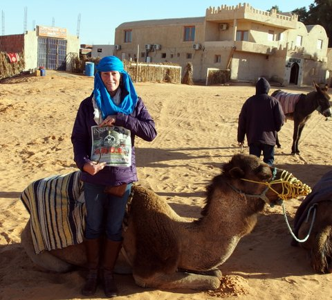 Nothing prepares you for a camel ride through the Sahara Desert quite like the Insider, probably because it's full of so many juicy humor nuggets! That's what Concord's Toni Crosby found out in January when she visited Matmata, Tunisia. Here she is about to take a ride she dialed up on the Tunisian Uber app.