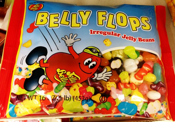 These Jelly Belly jelly beans were just a little too irregular to be sold as normal jelly beans. Let us posit this: could they be irregular because they are MAGIC BEANS?! The short answer is no.