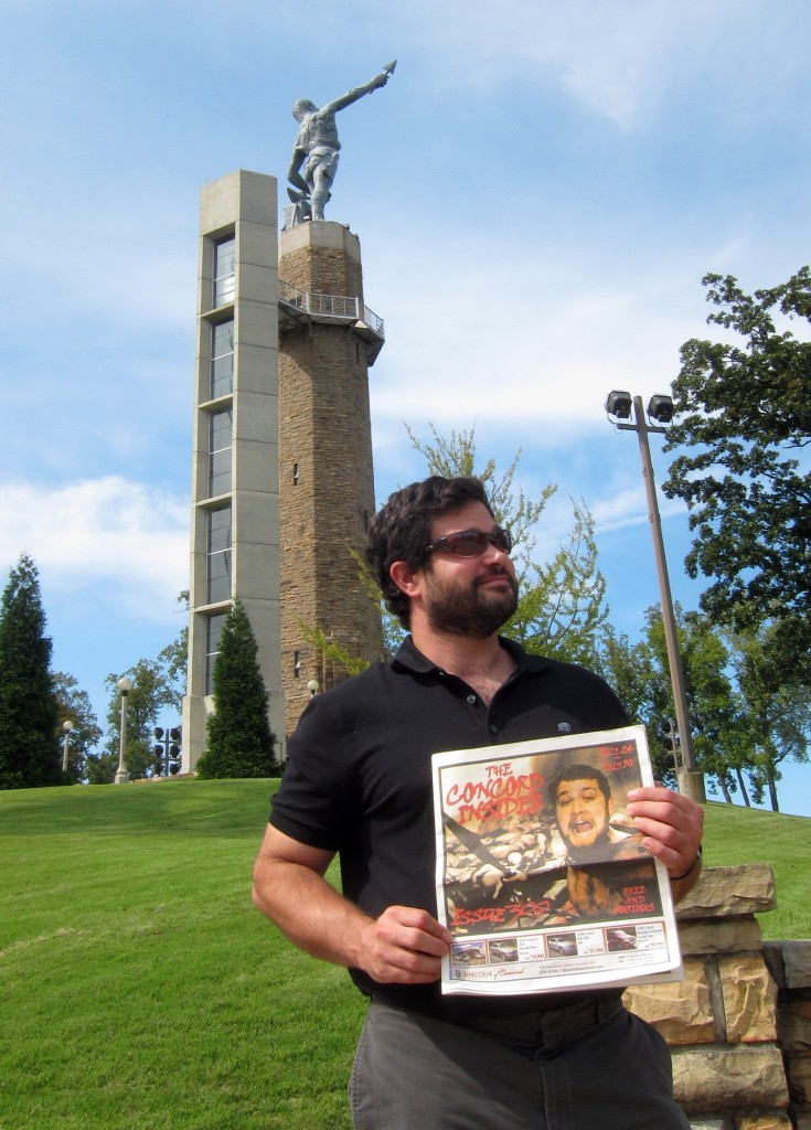 <em>Monitor </em>photo editor Alex Cohn took the <em>Insider </em>with him on a trip to Birmingham, Ala. Here he is in front of the statue of Vulcan, the Roman god of fire and forge.