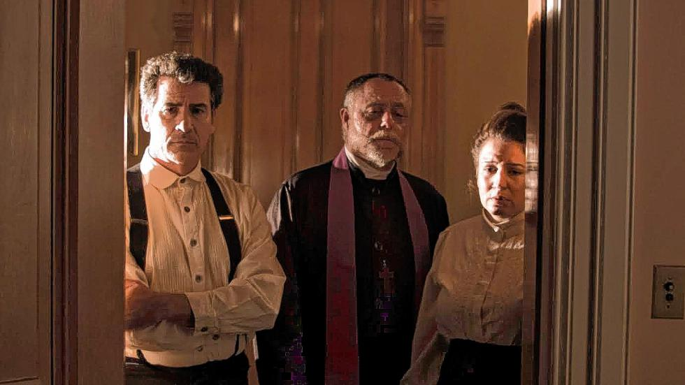 """""""The Priest"""" stars Michael Anthony Coppola as Joseph, Craig Capone as the priest and Mary C. Ferrara as Mary. It was written and directed by Concord's Pedro Pimentel. -"""