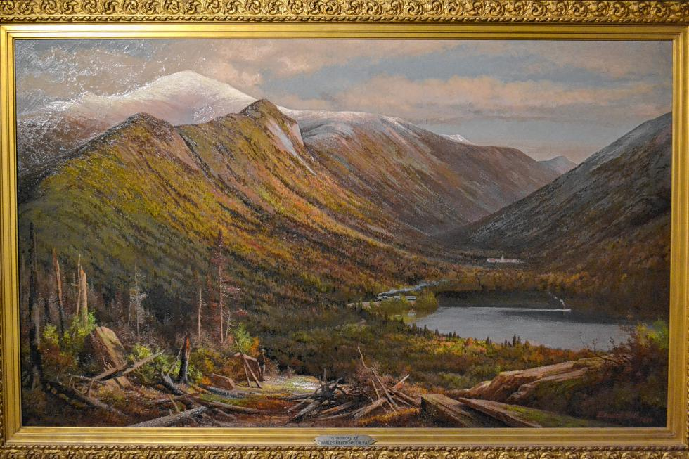 Franconia Notch, White Mountains, Echo Lake, Profile House, Edward Lake, 1887. (TIM GOODWIN / Insider staff) -