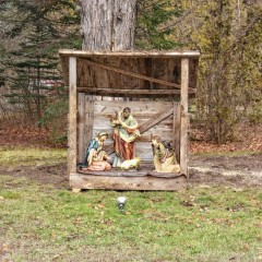 Nativity scene is a classic way to show off your holiday spirit