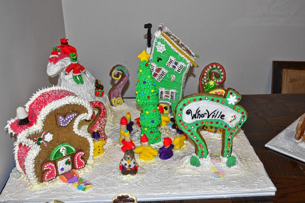 The gallery for whoville gingerbread house ideas for Cool designs for gingerbread houses