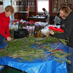 The Bow Garden Club put together fine-smelling wreaths and swags