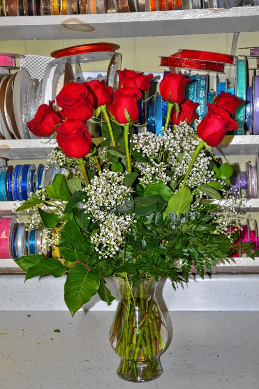 Wouldn't your sweatheart love this vase of roses? (TIM GOODWIN / Insider staff) -