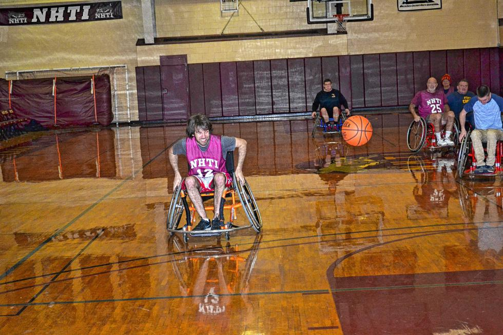 Using those wheels to win the race to a loose ball. (TIM GOODWIN / Insider staff) -