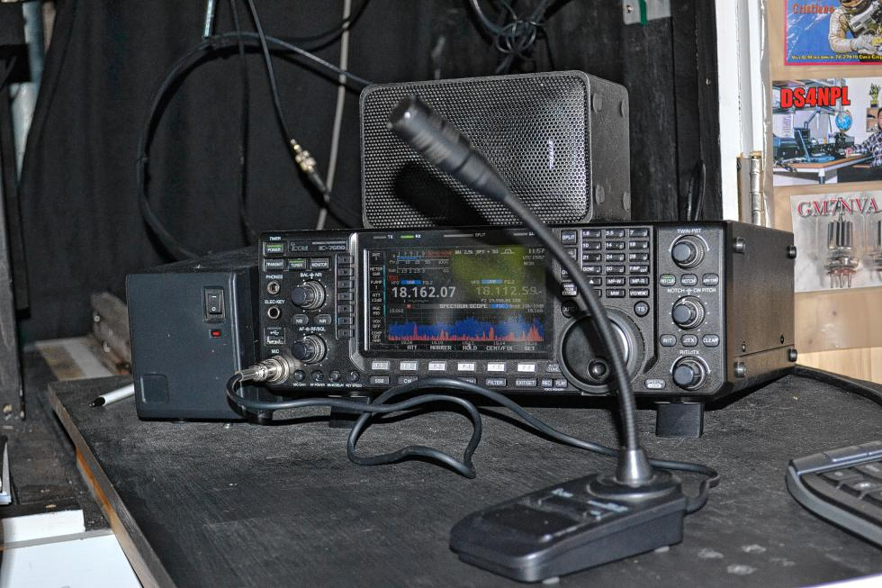 An up-close look at the ham radio. (TIM GOODWIN / Insider staff) -