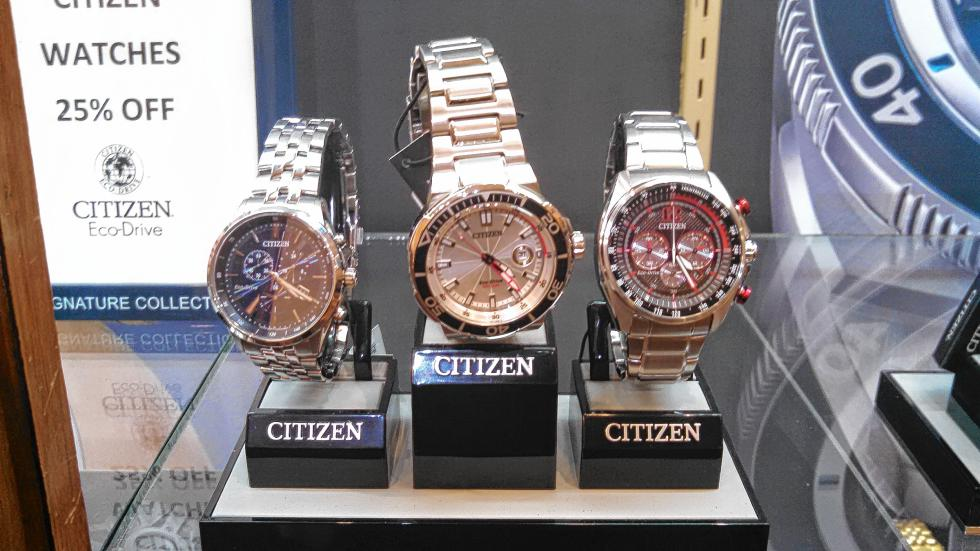 Get your man a classy Citizen watch at Capitol Craftsman and Romance Jewelers. (JON BODELL / Insider staff) -