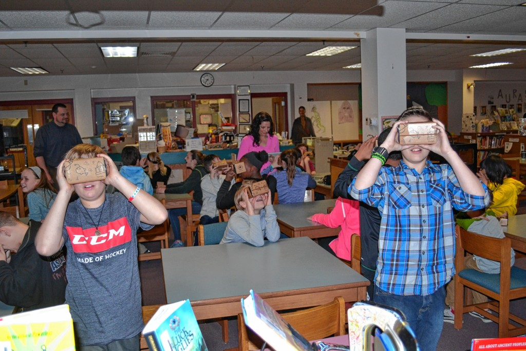 Tim Goodwin—Insider staffRundlett Middle School students got a chance to travel the world thanks to Google Expeditions Pioneer Program.