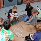 Students get water-crafty with cardboard