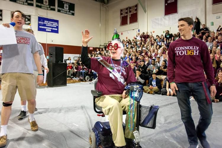 Courtesy photoThe Concord High School senior video paid tribute to retiring principal Gene Connolly.