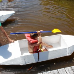 Hey, those cardboard boats actually worked
