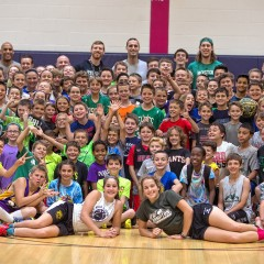 Bonner b-ball campers got a special surprise