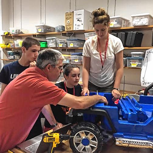 Tim Goodwin—Insider staffStudents in the St. Paul's School Advanced Studies Program helped equip toy ride on cars for children with mobility issues through GoBabyGo New Hampshire.