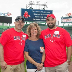 Veterans spend a day on the field of Fenway Park