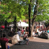 Listen to free music in Bicentennial Square every Friday night
