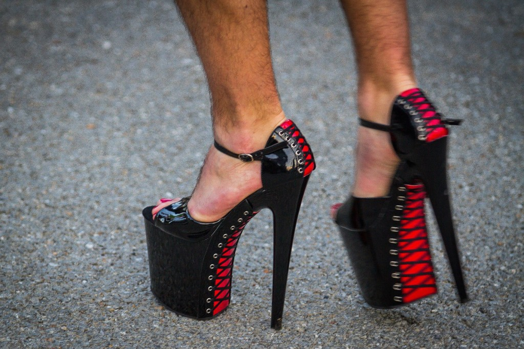 Elizabeth Frantzconcord Police Officer Dana Dexter Wears A Pair Of Eight Inch Platform Heels During The