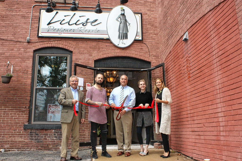 JON BODELL / Insider staff—Mayor Jim Bouley was on hand for a ribbon-cutting ceremony at Lilise Designer Resale recently. Although the shop had been open since June, it's never a bad time for a good ol' ribbon-cutting.