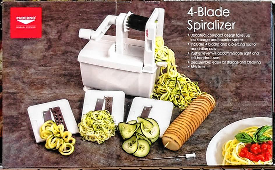 This is what the spiralizer looks like. But if you like veggies, it sounds like a good buy.