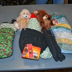 The quilters guild put together stockings