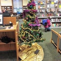 The library needs warm stuff for its tree