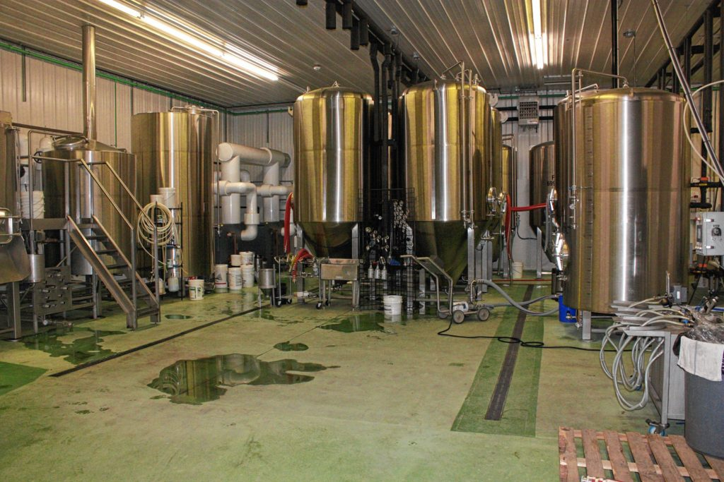 It might look like a lab from Breaking Bad, but this is actually where all the beer is made at Henniker Brewing Co. It's quite the tidy operation.(JON BODELL / Insider staff)
