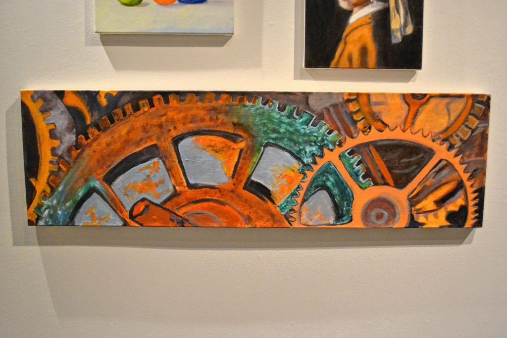 We stopped New England College's Chester Gallery to check out the annual student art exhibition.