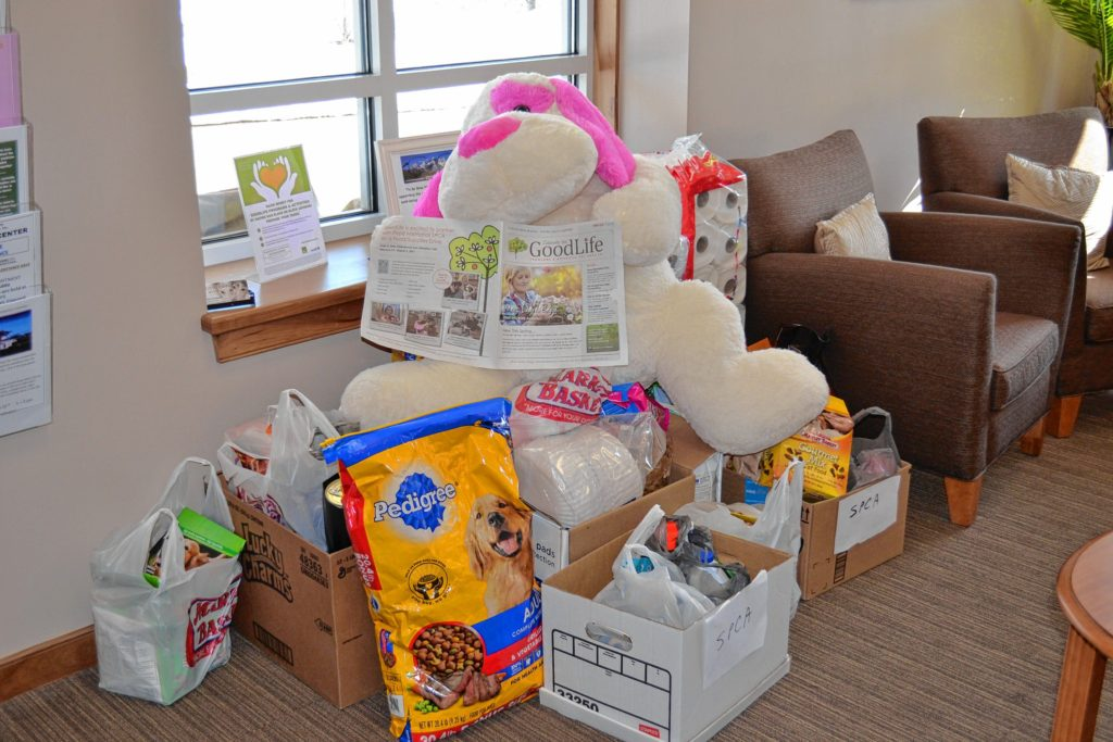 GoodLife Programs & Activities is hosting a food and supplies drive for the Pope Memorial SPCA through Friday.