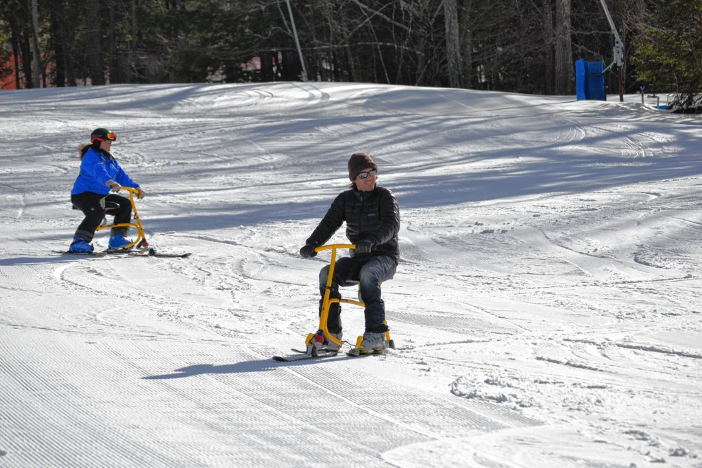 Jon took the snowbike for a test run at Pat's Peak.