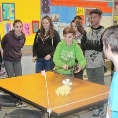 Rundlett Middle School students made little Strandbeests