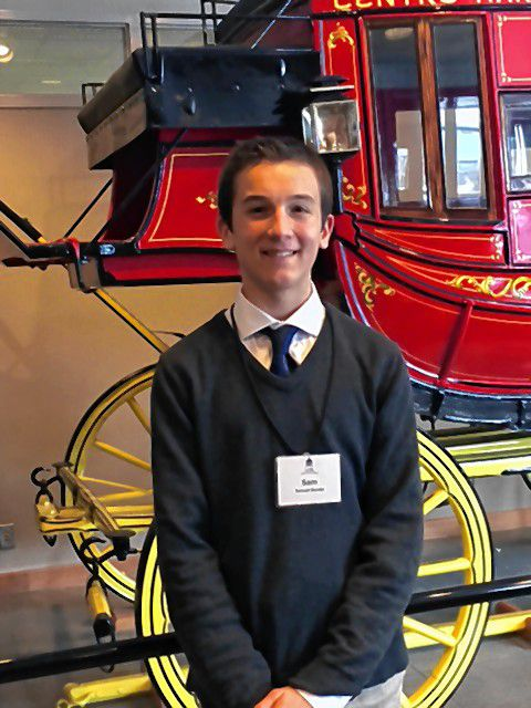 """Samuel Berube, Bow High SchoolHometown: BowFavorite subject: ChemistryFavorite vacation destination: WashingtonFavorite read: """"Don't Give Up, Don't Give In"""" by Louis Zamperini."""