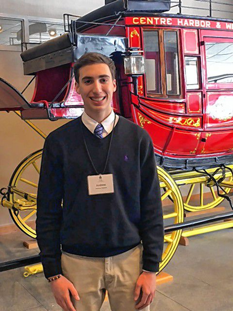 Andrew RalstonBow High SchoolHometown: BowFavorite vacation destination: Sebago Lake, Maine.I'm passionate about: Climate change.Favorite hobbies: Soccer, lacrosse and indoor track.