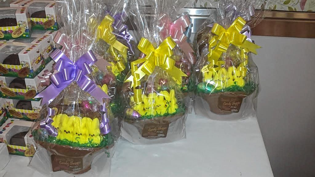 It's customary to find chocolate in your Easter basket, but Granite State Candy stepped it up a notch with baskets made out of chocolate.