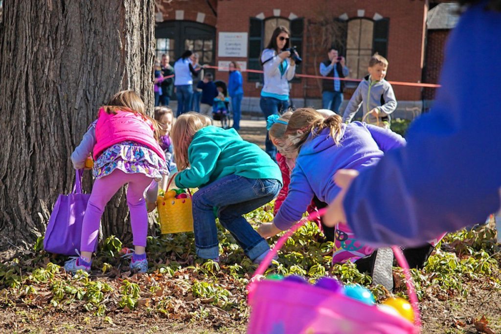 The Eggstravaganza at Kimball Jenkins is always a big hit with the kids, as you can see in this photo from a prior event. And, since it's free, it should be pretty appealing to parents, too.
