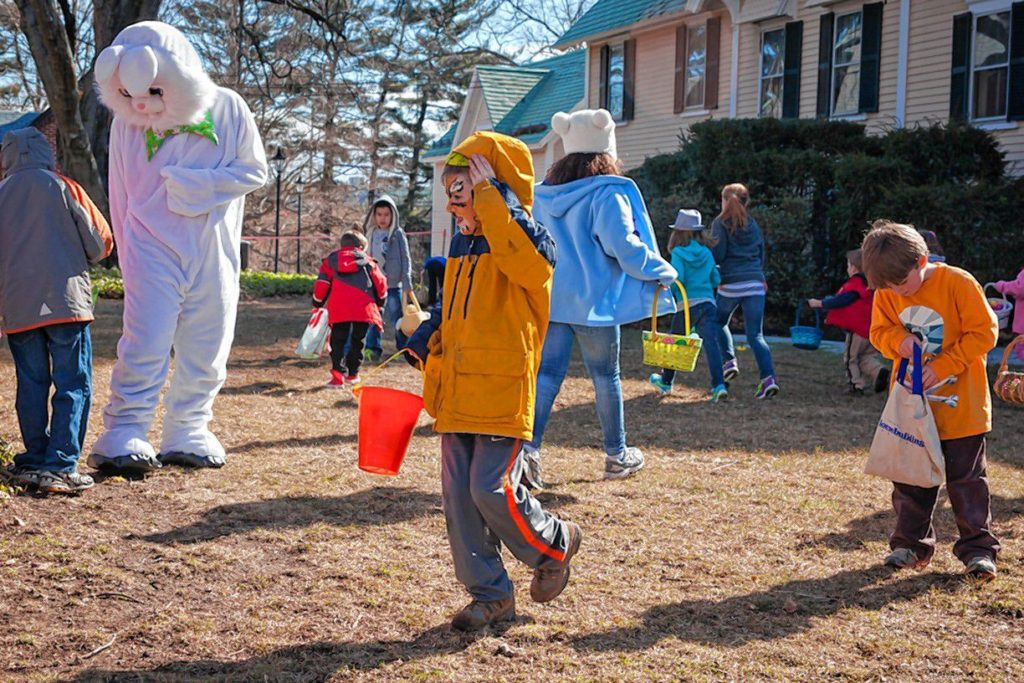 The Eggstravaganza at Kimball Jenkins is always a big hit with the kids, as you can see in this photo from a previous year's event. And, since it's free, it should be pretty appealing to you, too.(Courtesy of Kimball Jenkins Estate)