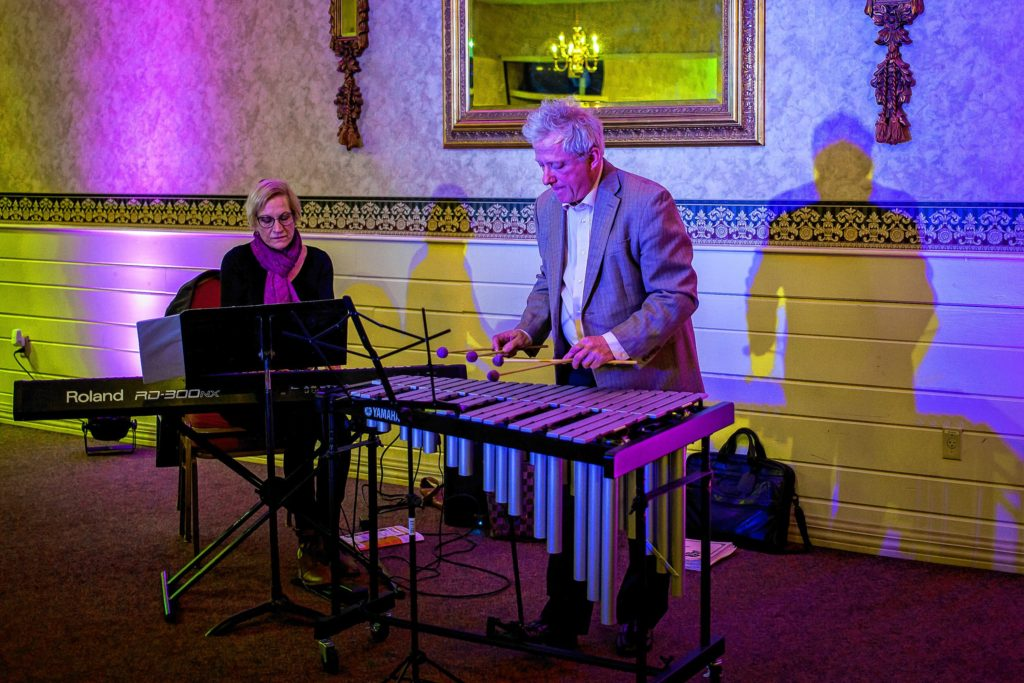 Nite Lites, with Jackie Bellows and Miles Hoisington, performs during Eggstravaganza at the Bektash Shrine Center in Concord on Friday, April 7.