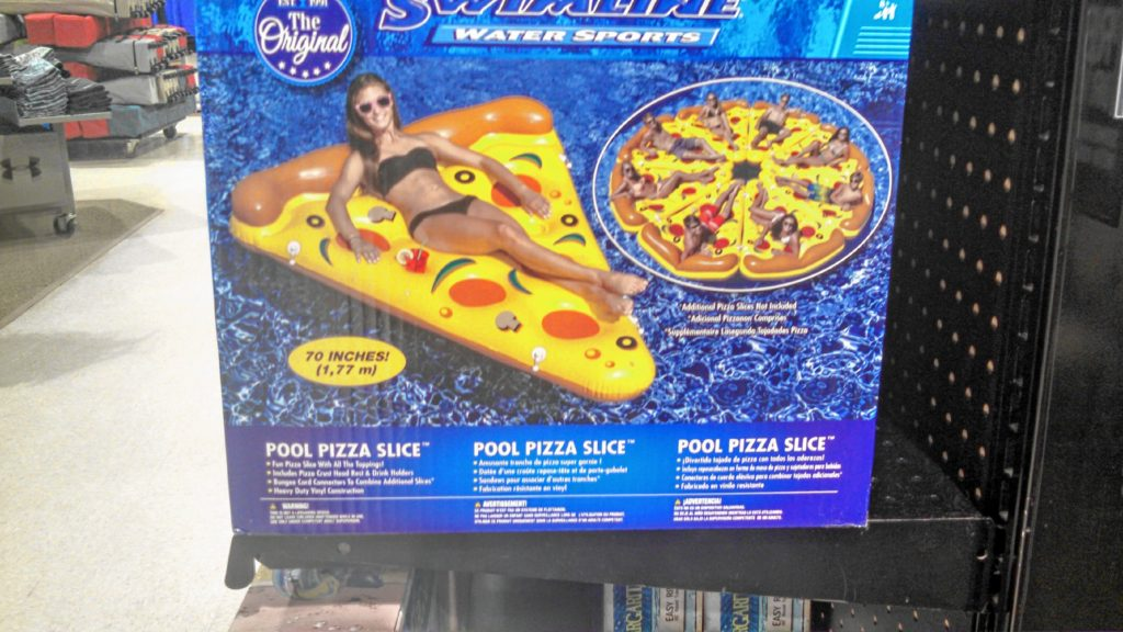 Now that it's finally warming up, we're already starting to think about the pool. But we won't want to get too wet, so we found this excellent pizza slice pool float at Dick's Sporting Goods, of all places. If we found seven friends who also had them, we could make one, big floating pool pizza! Doesn't get more Easter than that. (JON BODELL / Insider staff)