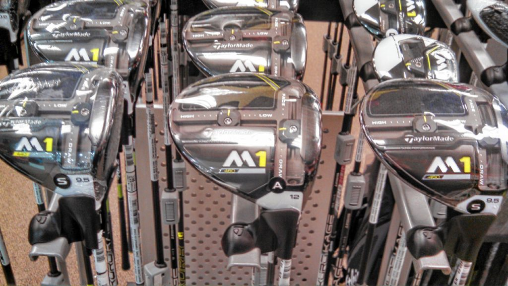 While poking around Dick's Sporting Goods, these TaylorMade M1 series drivers caught our attention. And at only $499.99 each, we decided to go for it so we can start setting records at Beaver Meadow (record-worst scores, that is). (JON BODELL / Insider staff)
