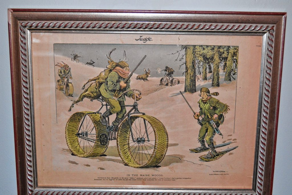 Kimball-Jenkins Estate is hosting an antique bicycle and bicycle advertisement exhibit – thanks to Zip and Carol Zamarchi – in the  Carriage House through April, just before the Big Bicycle Project debuts in Concord on May 6.
