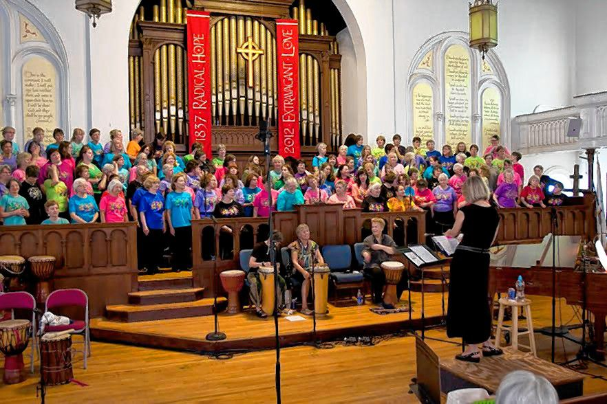 The Songweavers women's chorus will hold its annual spring concert at South Congregational Church on Saturday at 5 p.m. This year's theme is lean on me, as the group explores how music and community help people manage trying times.