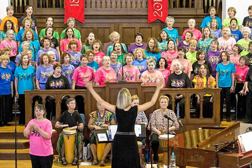 The Songweavers women's chorus will hold its spring concert at South Congregational Church on Saturday at 5 p.m.