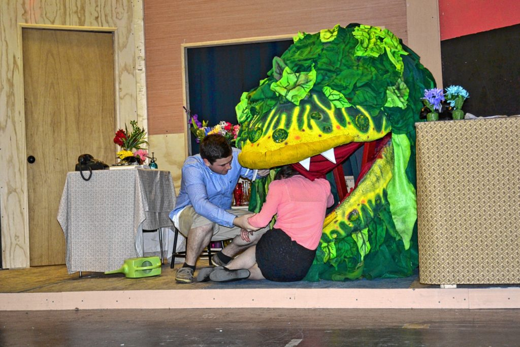 "The Bishop Brady Players will put on three performances of ""Little Shop of Horrors"" this weekend, where Ethan Jalbert plays Seymour Krelborn and Rachel Bittman fills the role of Audrey."