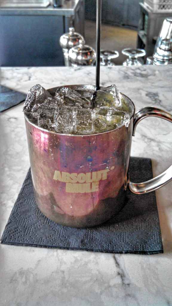 Since O Steaks & Seafood won the award for Best Cocktail, we had to try one for ourselves. Here's a nice, cold Kentucky Mule, featuring Jim Beam Black, ginger beer and a fresh squeeze of lime. JON BODELL / Insider staff
