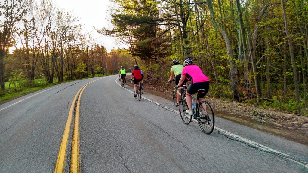Women take part in the S&W Sports Women's Road Ride last Tuesday night. The group meets every other Tuesday night at 7 for some cycling. Courtesy of Andrea Pirkey